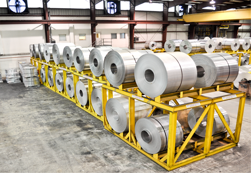 Finished Aluminum Coil at Vulcan Aluminum Mill
