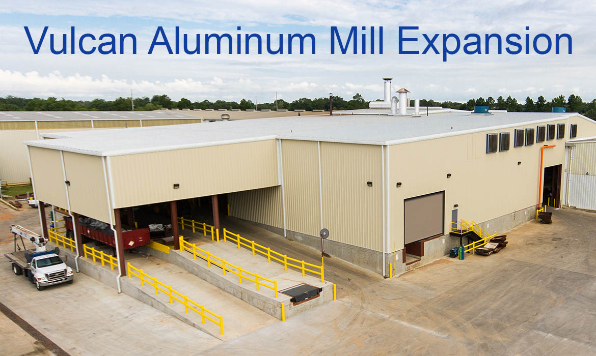 Vulcan completed a Mill Expansion, boosting production capacity to 110 million pounds per year.